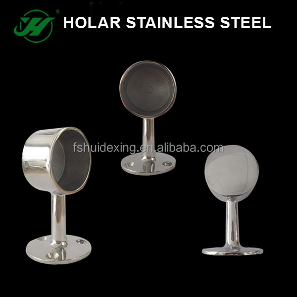Stainless Steel Balustrade Handrail Pipe Carrier / Bracket