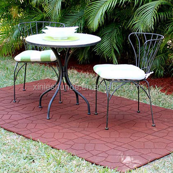 Outdoor Rubber Pavers Patio Tiles Deck