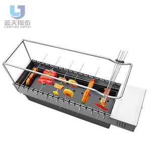 Able Spring Out door American Automatic Rotary Charcoal Kebab Grill Commercial Oven Bbq Grill