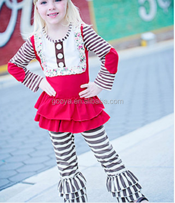 Girl fall boutique long sleeve children frocks designs Clothing wholesale Garment processing clothes