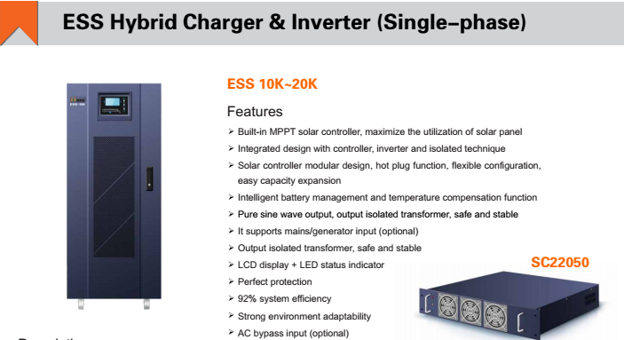One-In-All 15KVA Hbrid Inverter