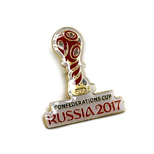 Russia World Cup custom soft enamel pin with epoxy done
