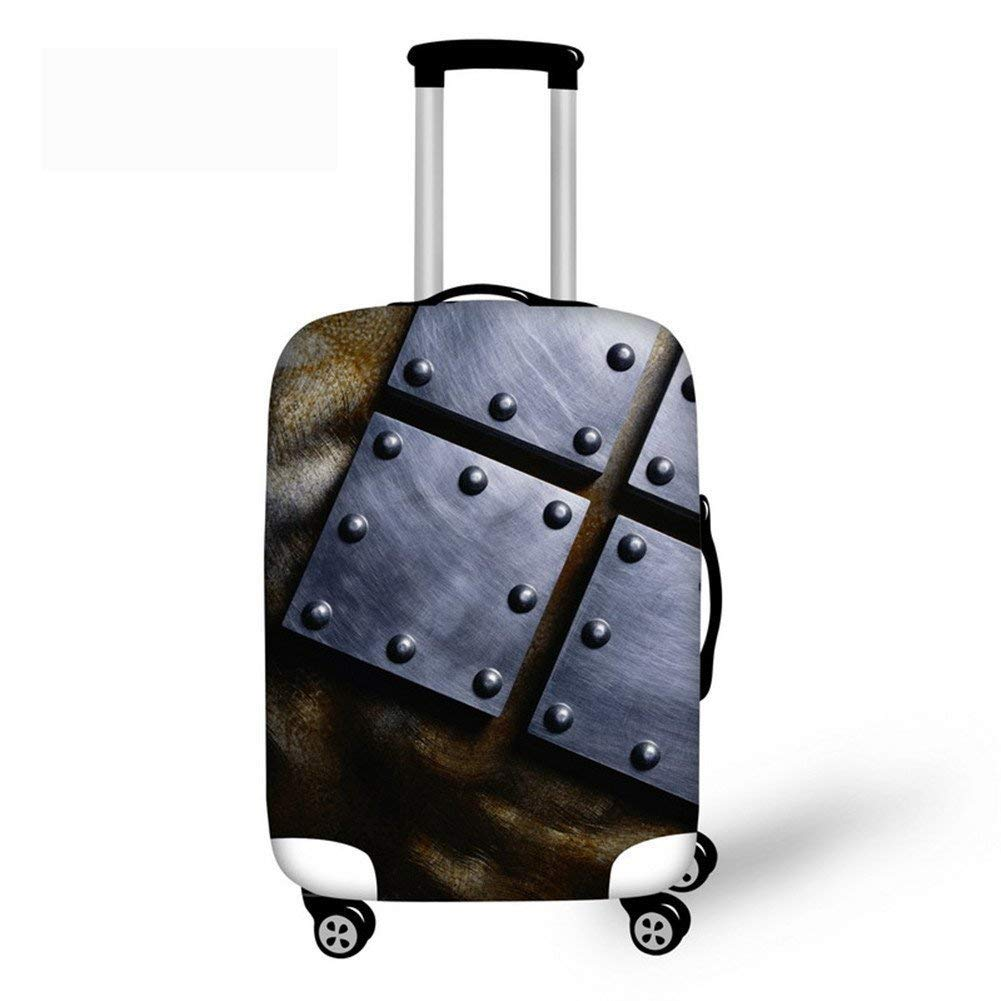 Cute 3D Blue And White Damask Pattern Luggage Protector Travel Luggage Cover Trolley Case Protective Cover Fits 18-32 Inch