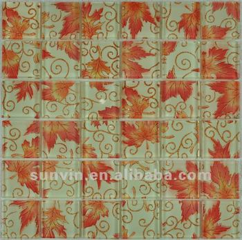 Living Room Highlighter Wall Paper Glass Mosaic Tile