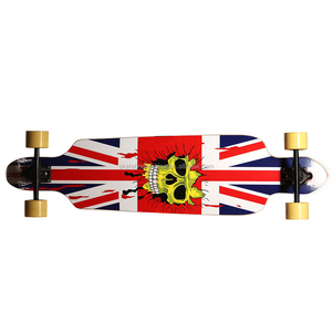7 Ply Maple Wood & BAMBOO Longboards,38x9.5inch hot sale long maple wood street skateboard with PU wheel
