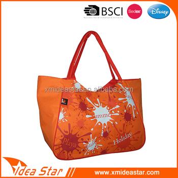 Custom Large Ladies Trendy Beach Bags Shopping Bag Tote ...