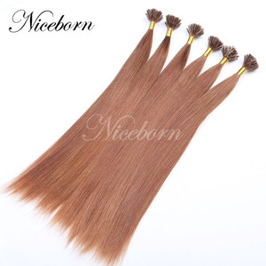 Hot sale Pre Bonded I Tip Hair Extension 1g Stick Tip Cold Fusion Hair 100% Virgin Cuticle Remy Keratin Human Hair extensions