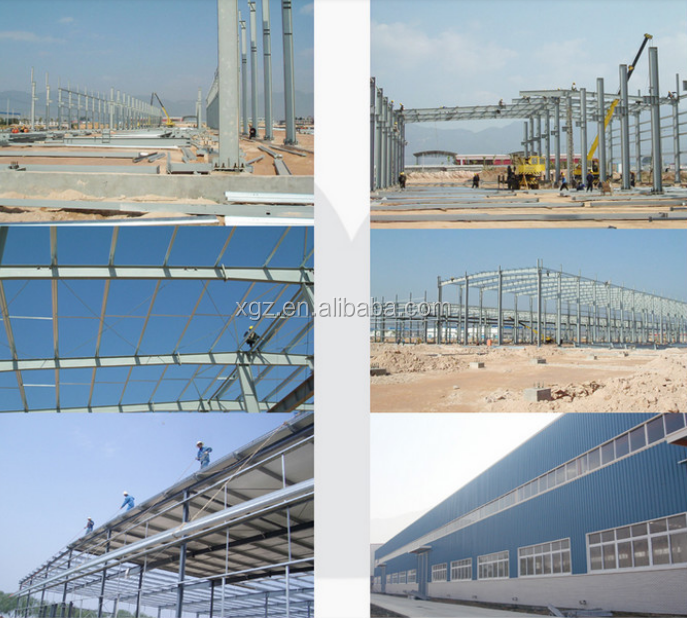 structural steel frame car showroom and exhibition hall