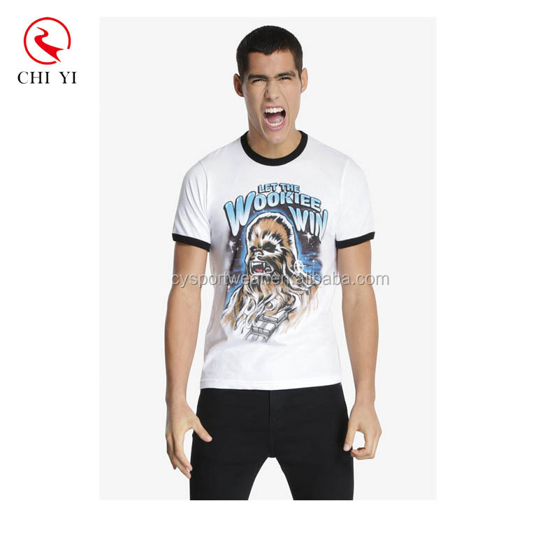 Custom Print Men's t-shirt Sports Clothing Men's white t shirts