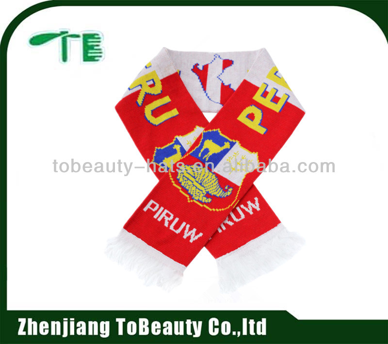 World Cup polyester priting woven football fan scarf
