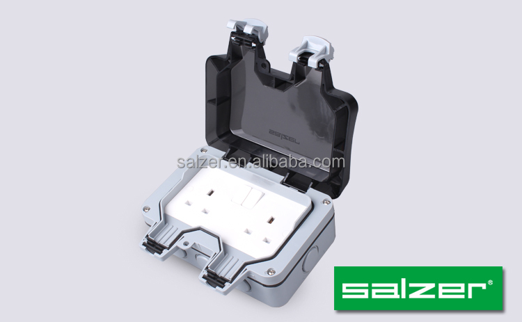 Salzer Weatherproof Double Switch Socket Ip66