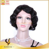 Crochet Braid Remy Wave Human Hair Short Bob Lace Front Wig - Buy ...