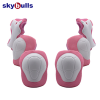 Roller Skate Cycling Protective Gear Knee and Elbow Pad Wrist Guard Safety Support 6PCS For Kids