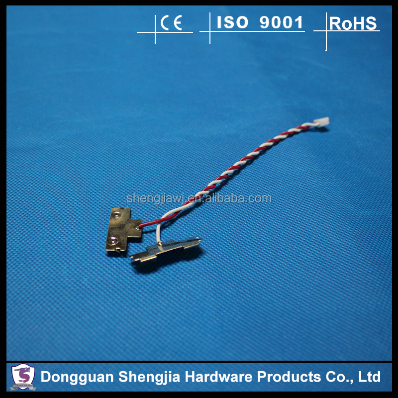 precision nickel plated small electric connector with wire