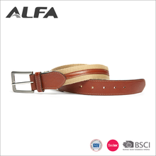 Alfa Super September Purchasing China Supplier Custom Print Mens Canvas Belts