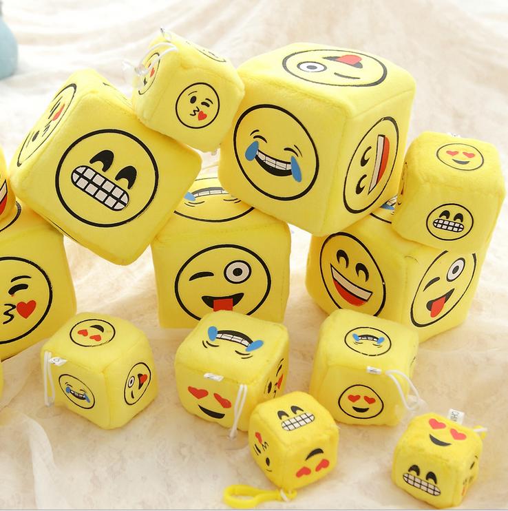 Cheap wholesale small size emoji plush sieve baby toy