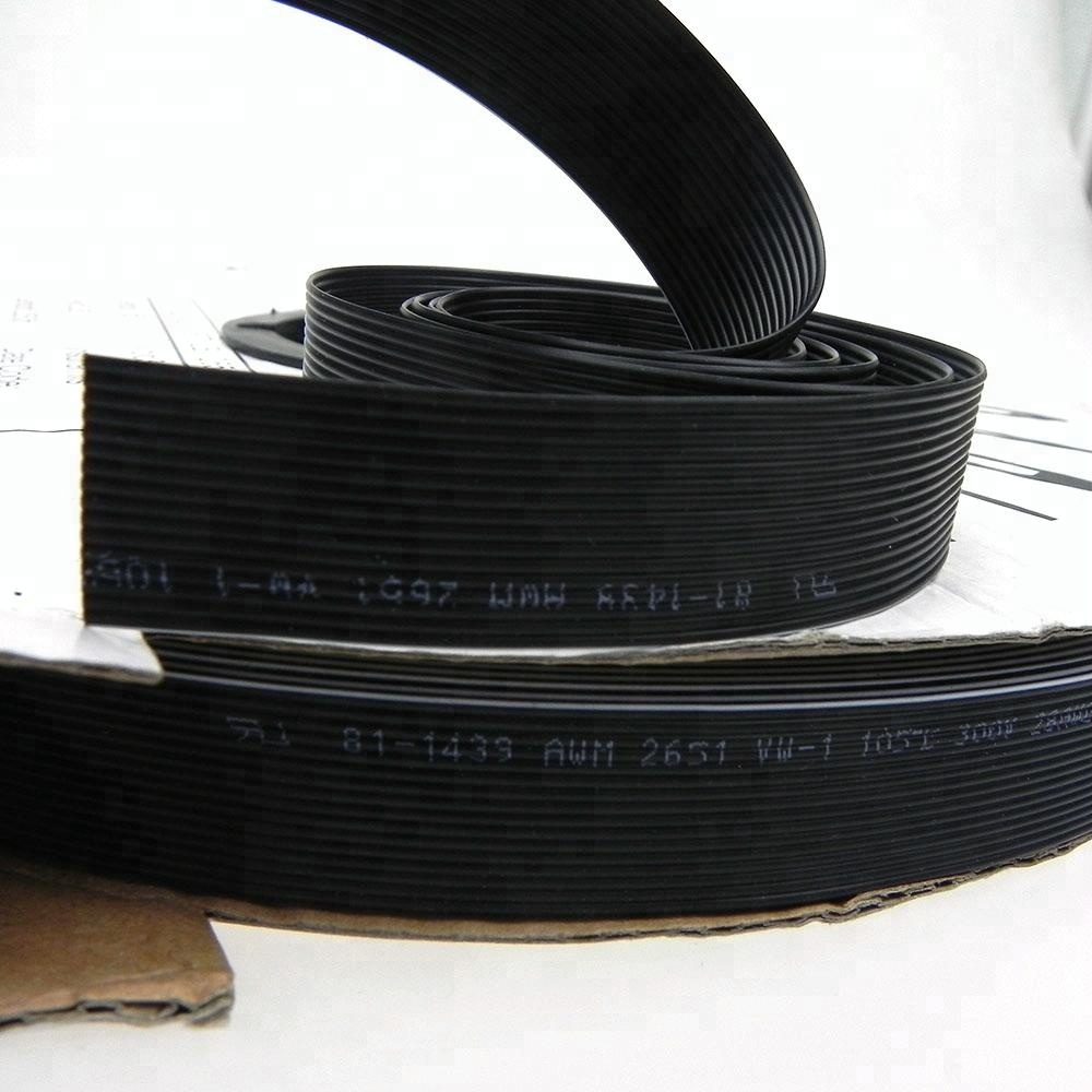 Customized UL2651 16pin 1.0mm 1.25mm pitch black color IDC ribbon cable to 2.0mm 2.54mm connector