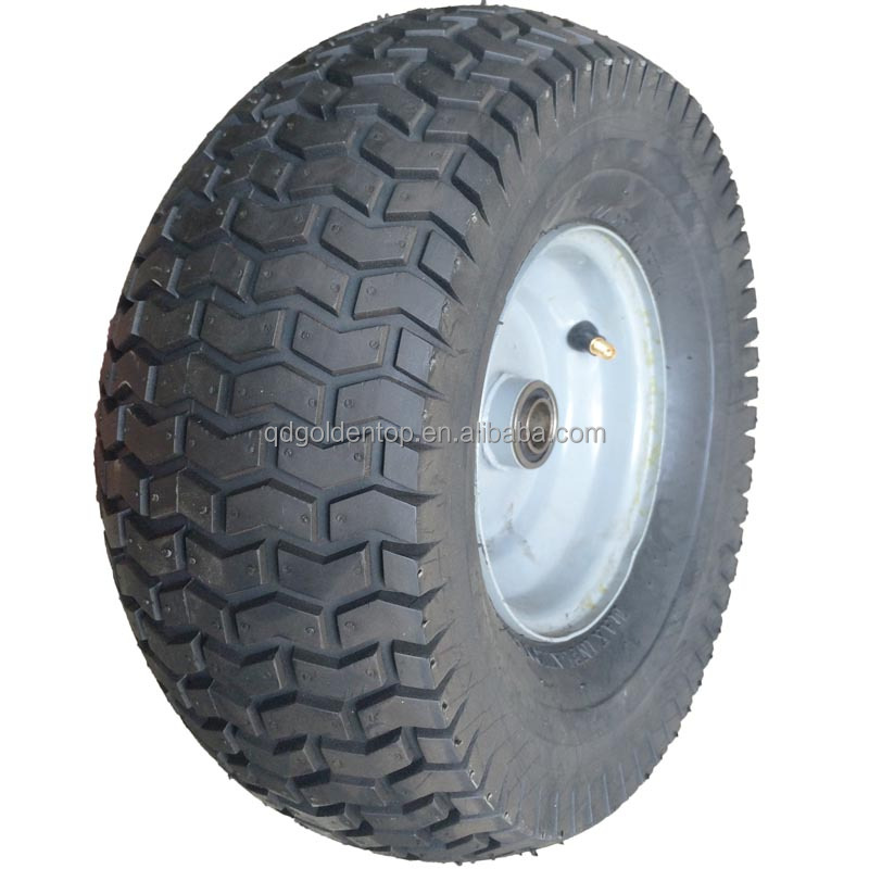 13 inch 6.50-6 tubeless turf tire rubber wheel for power equipment