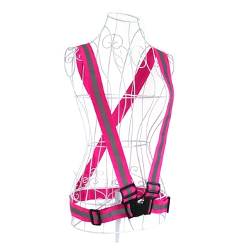 Factory Price Wholesale Hi Vis Custom Running Cycling Bike Reflective Belt Fabric Vest ,Reflective Safety Belt