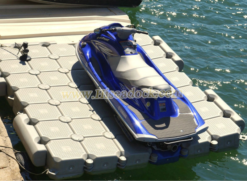 Pontoon boat with jet ski dock - Mist facial
