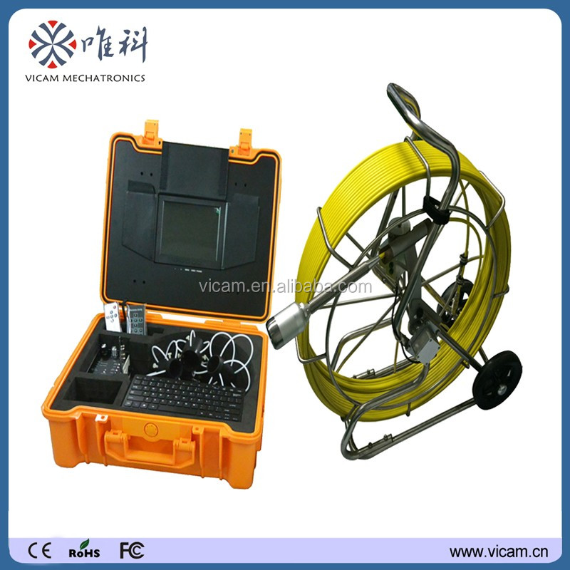 600 TVL 1/3 inch CCD Sensor Borehole Inspection Camera along with 60m fiberglass cable