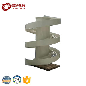 Continous vertical spiral carton case conveyor