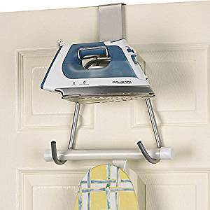 Over-the-Door Ironing Board Holder