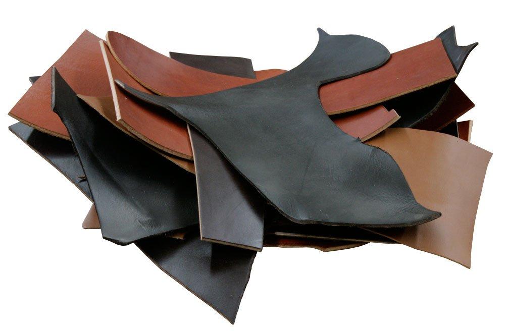 English Bridle Leather Scrap Bag, 5 Pound Assortment