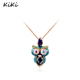 >>>Women Necklace New Fashion Jewelry Gold Color Statement Owl Head Pendant Necklace For Women Party Wedding Jewelry
