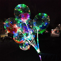 2019 Wholesale Bobo ballon 18 inches LED balloon with String Light for Christmas New