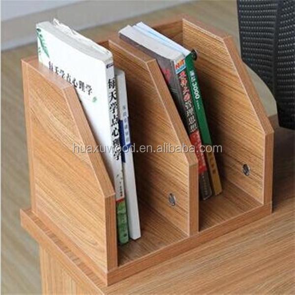 HX MZA10 Wooden Desk Mate Book Organizer Small Bookshelf