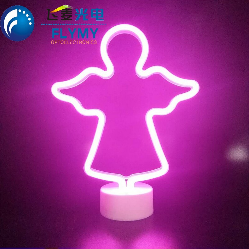 Snowflake coconut palm tree flamingo unicorn rainbow Lights Neon Night Light for Christmas Party Decor