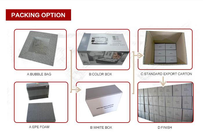 Pintado personalizado caixa de embalagem caixa de chá de madeira com compartimentos