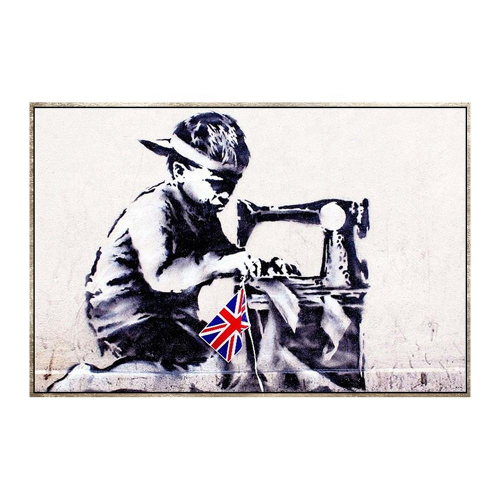 Dafen Customized Banksy Canvas Printing Services HD Designs Photos <strong>Picture</strong>
