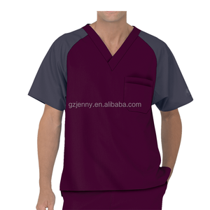 Wholesale Custom Hospital Uniforms Male Blank Scrubs Uniforms for Men Scrubs Tops