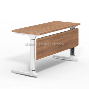 foldable desk office table triangle conference table