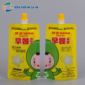 Stand up bag 250g Soybean Milk Packaging Pouch Bag with spout