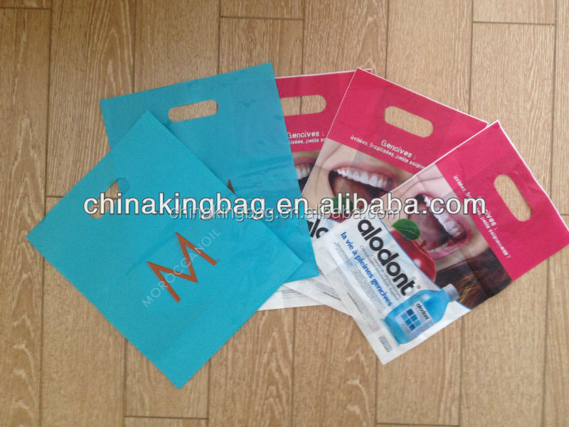 high quality and cheaper price plastic die cut plasticbag with printing
