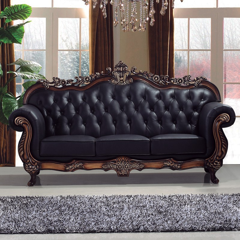 All Top Grain Real Leather Sectional Cheap Chinese
