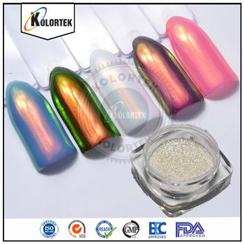 Whole Bulk Aurora Pigment Cosmetic Grade Nail Powder Rainbow Mirror Chrome Pigments