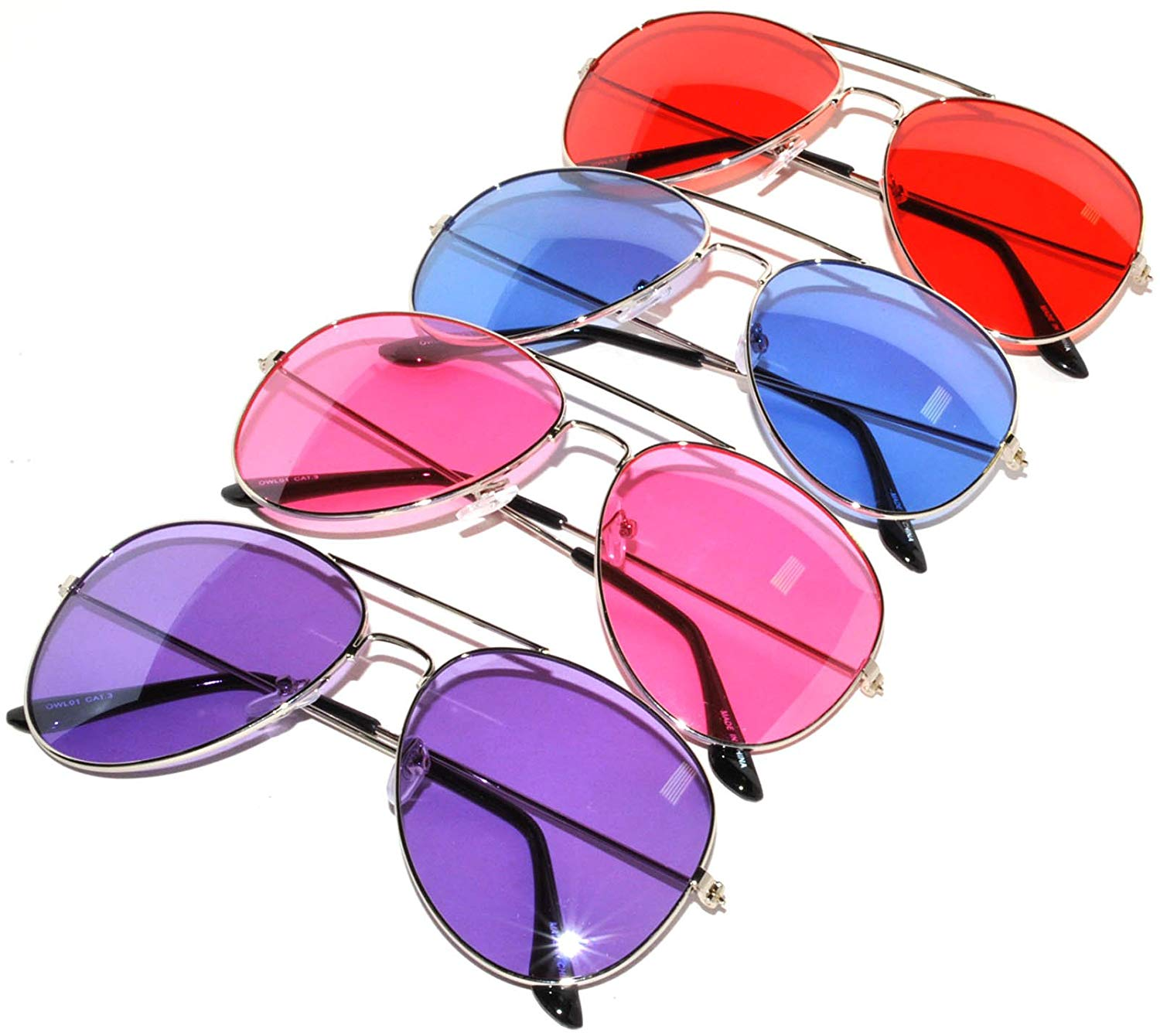 84dfaf8c38 Get Quotations · Aviator Classic Sunglasses Black Silver Bronze Gold Blue  Green Yellow White... (Blue