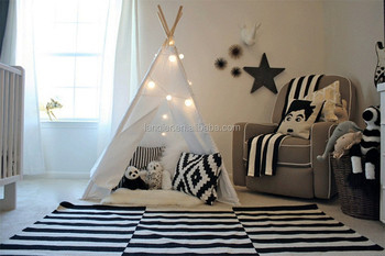 baby teepee tent canvas fabric folding wood kids play & Baby Teepee Tent Canvas Fabric Folding Wood Kids Play - Buy Baby ...