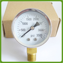 High quality 4 inch All stainless steel pressure gauge with lazer welding with bottom connection