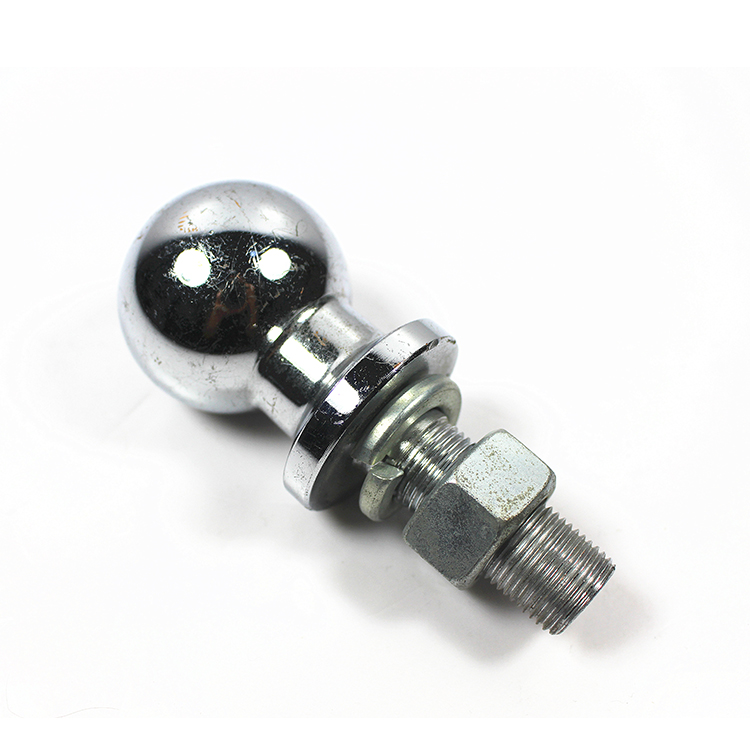 "2 ""Drop Forged Trailer Hitch Ball ชุบโครเมี่ยม Trailer Tow Hitch Ball Shank 3500LBS"