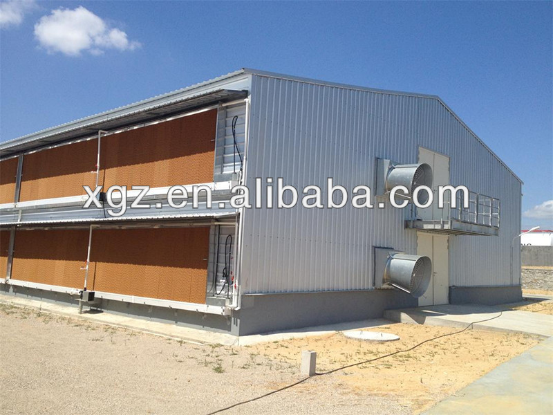 Prefab Steel Chicken Cage Poultry Farm House Equipment