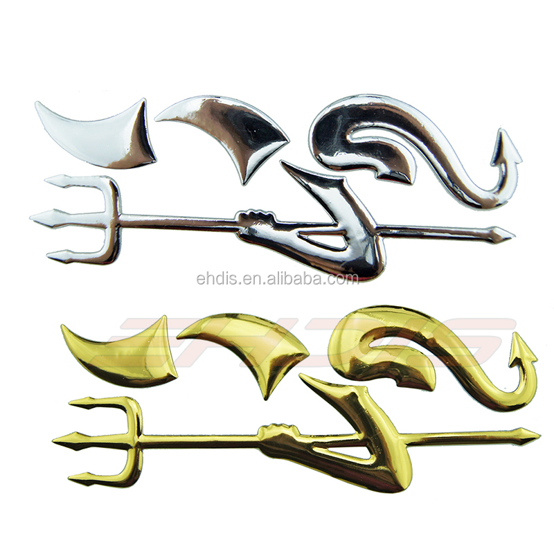 3D Chrome Devil Sticker Car Body Sticker Decorative Decal Sticker