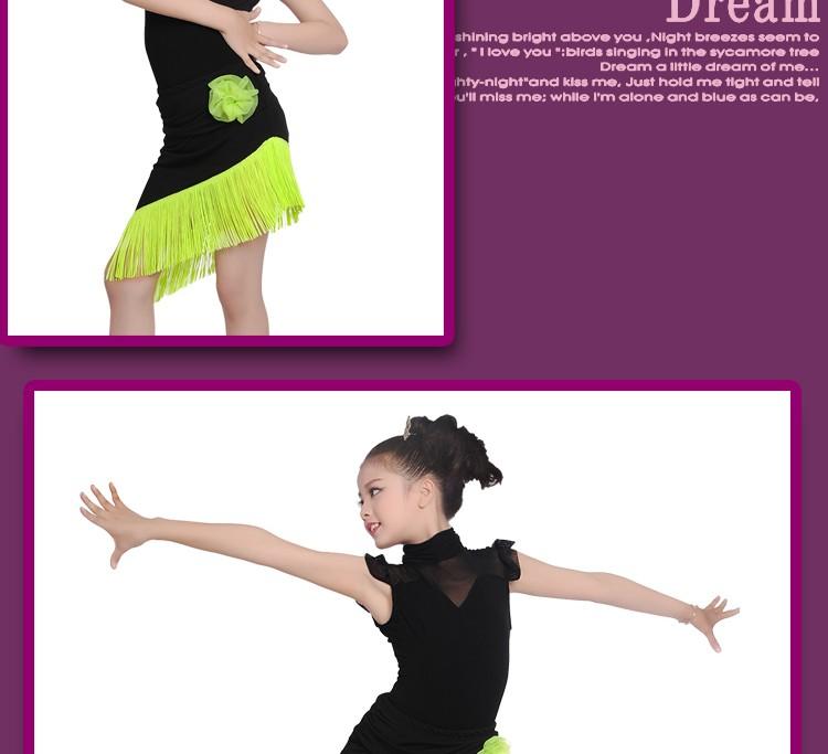 Niño Cuello Alto Rendimiento Falda De Baile Latino Traje - Buy Danza ...