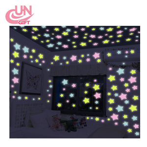 wholesale 3d glow star plastic glow in the dark star stickers