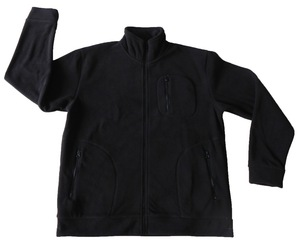 350gsm black thick fleece jacket for cold weather workwear uniform ,polar fleece jacket manufacturer .