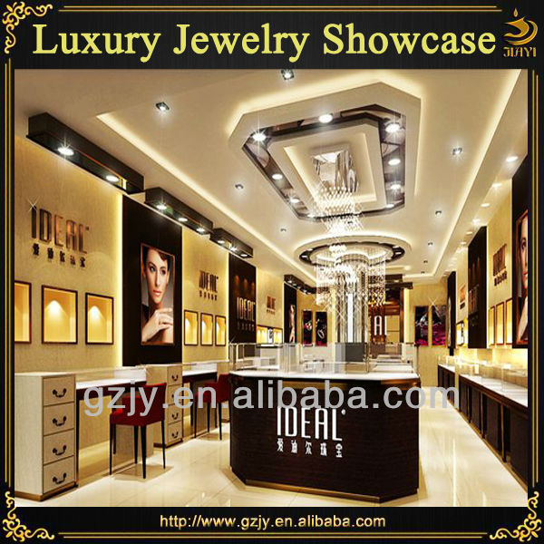 Modern Indian Jewellery Showroom Designs Display Cabinet And